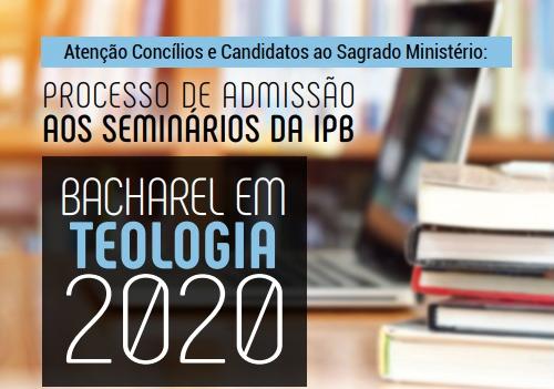 Inscrição para processo de admissão aos seminários da IPB retornam dia 11/06