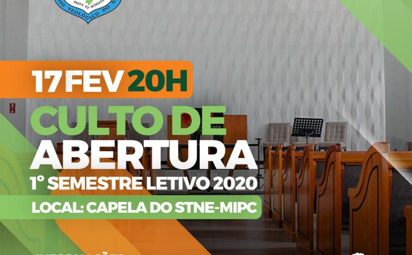 Culto de Abertura 2020
